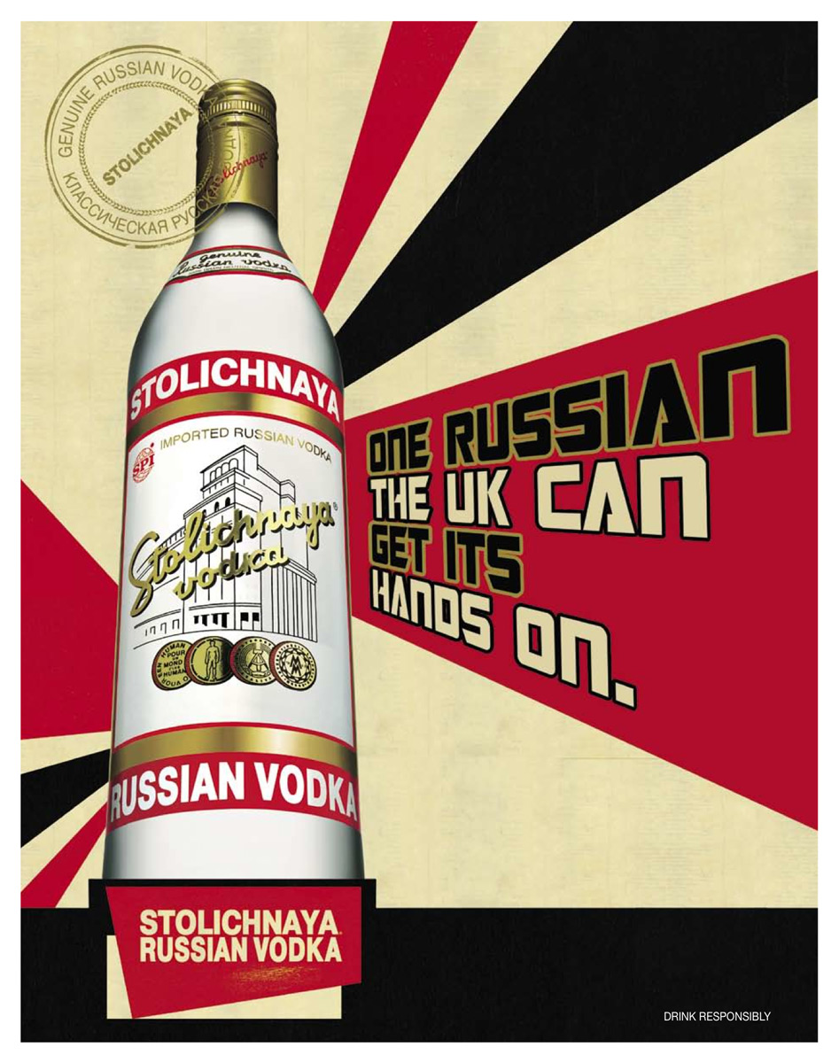 Stolischaya russisk vodka 70 cl