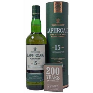 Laphroaig 15 års 200th Anniversary Islay Single Malt.